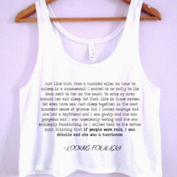 Looking For Alaska Quote Crop-Top