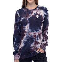 A-Lab Aby Alien Blue & Purple Tie Dye Long Sleeve T-Shirt