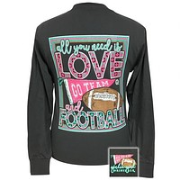 Girlie Girl Preppy All You Need Football Long Sleeve T-Shirt