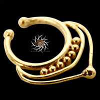 Fake Septum Ring - Faux Septum Ring - Fake Piercing - Clip On Piercing - Clip On Septum - Septum Jewelry - Septum Cuff - Nose Jewelry SF31G
