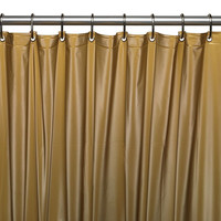 "Royal Bath Extra Heavy 8 Gauge Vinyl Shower Curtain Liner with Metal Grommets (72"" x 72"") - Gold"
