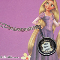 Tangled (Rapunzel), Frying Pan necklace, Who Knew, Right? Disney Inspired, by Life is the Bubbles