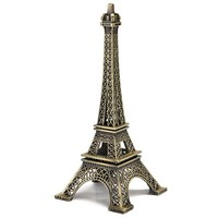 Apollo23 - 18cm Metal Paris Eiffel Tower Craft Art Statue Model Desk Room Decoration Gift (22 cm)