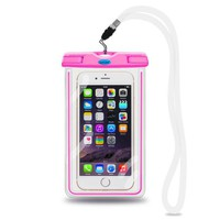 Universal Waterproof Pouch Case, [Luminous Feature] IPX8 Certified Protective Smartphone Credit Card Waterproof Bag Life Case for iPhone 6 Plus/6/5s/5/5C/4S,for Galaxy S6,S5,S4 Etc (Pink) - Walmart.com