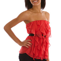 Alythea Ravishing Ruffles Top Womens Tops - Womens Tank Tops - Womens Blouses - Womens Casual Tops - Dressy Tops from For Elyse