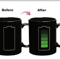 ZLB Color-changing Rechargeable Battery Temperature Sensing Cup Color Black