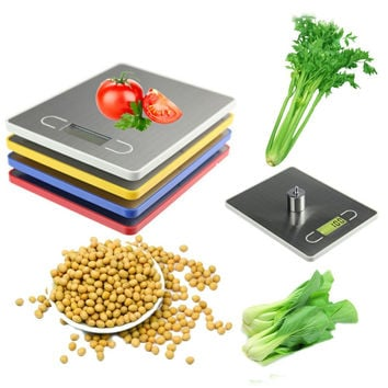 Hot Practical 5KG/1g LCD Display Digital Electronic Kitchen Food Diet Postal Scale balance weighting  Weight Tool with Tray