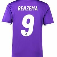 Real Madrid 2016/17 Away Men Soccer Jersey BENZEMA #9