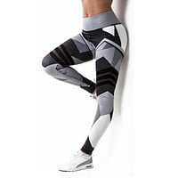Sexy Fitness Yoga Sport Pants Push Up Women Gym Running Leggings jegging Tights High Waist print Pants Joggers Trousers
