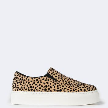 Tan Leopard Sneakers