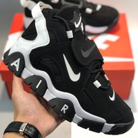 "Nike Air Barrage Mid QS"" Black White Purple"" cheap Men's and women's nike shoes"