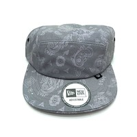 New Era x Secret Society Ligth Grey Flag 5 Panel Camper Strapback Hat Light Grey