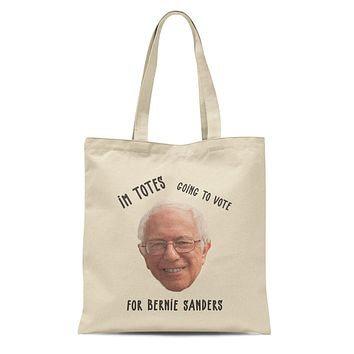 Function - Bernie Sanders I'm Totes Going To Vote For Bernie 12 oz Heavy Canvas Cotton Tote Bag