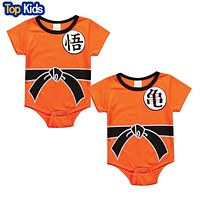 Dragon Ball Baby Rompers born Baby Boys Clothes Jumpsuit