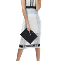 Topshop Colorblock Lace Midi Shift Dress | Nordstrom