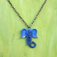 Ganesha in Blue Handcrafted Necklace