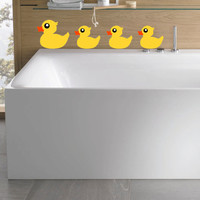 Rubber Duckies In A Row wall decal