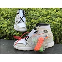 Off White X Air Jordan 1 White Sneaker