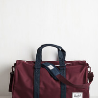 Menswear Inspired Pack in Action Weekend Bag by Herschel Supply Co. from ModCloth