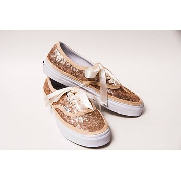 Champagne Gold Sequin Sneakers