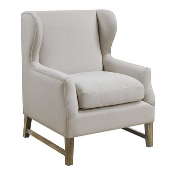 G902490 - Wing Back Accent Chair - Cream