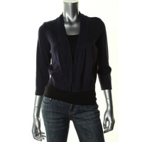 Charter Club Womens Knit 3/4 Sleeves Cardigan Sweater