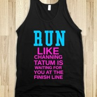 Supermarket: Run Like Channing Tatum Is Waiting For You At The Finish Line from Glamfoxx Shirts