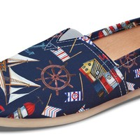 Nautical Pattern Casual Shoes