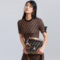 Fendi New Fashion Women Show Coffee Dress