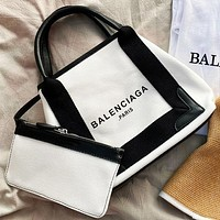 Balenciaga New fashion letter print handbag shoulder bag crossbody bag two piece suit