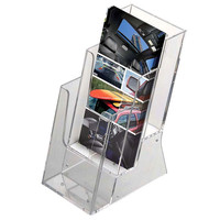 Brochure  Leaflet Holder 3 Pockets Countertop use 4w x 6h Brochure Dimension