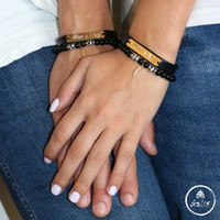 Personalized Couples Bracelets - Matching Bracelets - His And Hers Bracelet - Personalized Gift - Couples Gift - Anniversary Gift - Custom