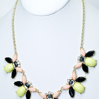 Bee's Knees Necklace - Yellow