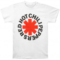 Red Hot Chili Peppers Asterisk Logo White T-shirt - Red Hot Chili Peppers - R - Artists/Groups - Rockabilia