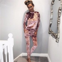 2017 the spring and autumn period and the lady suit velvet sleeves warm hot style cultivate one's morality leisure female suit