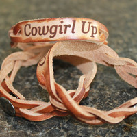 Cowgirl Up Leather Braided Bracelet | iwanttomarryacountryboy