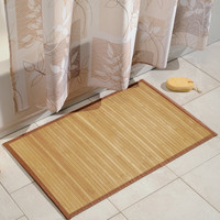 Eco-Friendly Bamboo Bath Mat, 21-inch x 34-inch, Natural