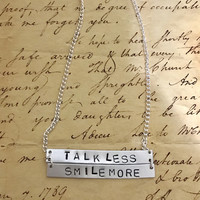 Hamilton Broadway Aaron Burr, Sir Lyrics Double Bar Necklace