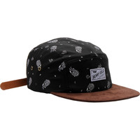 Benny Gold Cloud Paisley 5 Panel Hat - Black