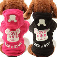 Pet Puppy Dog Cat Warm Coat Clothes Hoodie Sweater Costumes Size XS S M L = 1929756932