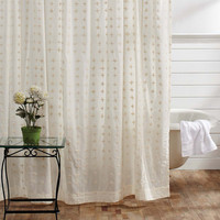 Willow Creme Shower Curtain