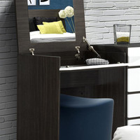 Allure Vanity - Mirror & Intergrated Storage Space