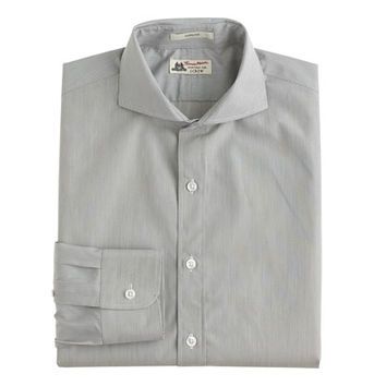 Thomas Mason For J.Crew Ludlow Cutaway-Collar Shirt In Grey Stripe