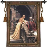 Godspeed Medieval Knight Woven Wall Hanging Cotton Tapestry
