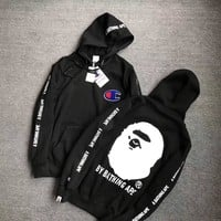 Champion x BAPE Fashion Hoodie Top Sweater