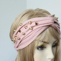 Very Cute Turbans Headband with gold color spikes  great accessory for your outfit