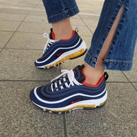 shosouvenir : Nike Air Max 97 air cushion yellow blue shoes