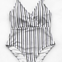 Cupshe Lucky Star Stripe One-piece Swimsuit