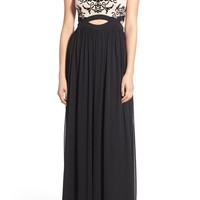 Blondie Nites Tattoo Lace Cutout Gown   Nordstrom