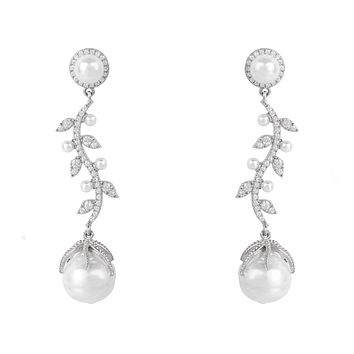 Natural Baroque Pearl Wedding Earrings